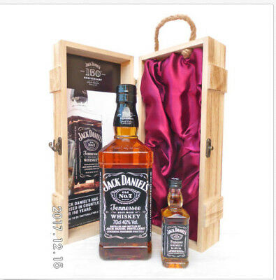 Jack Daniels 150th Anniversary Ltd Bottle In Timber Case 700ml Plus Mini-Rare!!!