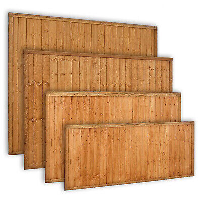 Wooden Garden Closeboard Fence Panel Featheredge Fencing Panel 6ft 5ft 4ft 3ft