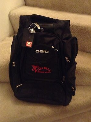 Fireball Cinnamon Whisky Whiskey Backpack OGIO Techspecs Black with Red Logo