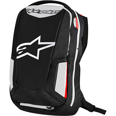 Alpinestars City Hunter Motorcycle Backpack-Black/White/Red
