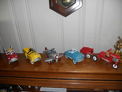 1992 Hallmark Kiddie Cars 1St Five Retired , Signed And In Mint Boxes And Cond.