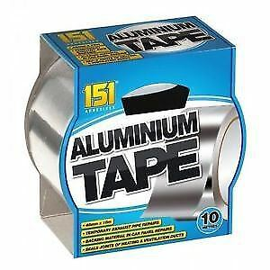 10m Aluminium Foil Tape Reflective Duct Self Adhesive Roll Heat Insulation 48mm