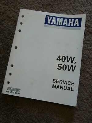 1997 1998 Yamaha Outboard 40 50 HP 40W 50W 40V 50H Service Repair Manual DEALER