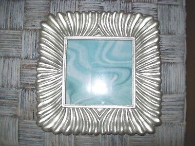 Azzure Picture Frame Nwt  4X4 Photo Table Top Silver Matte