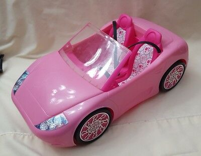 2010 Barbie Glam Convertible Car Coupe Pink 2 Seater Toy Car  MATTEL