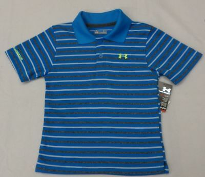 Under Armour Toddler Boys Electric Blue Short Sleeve Polo Size 3T