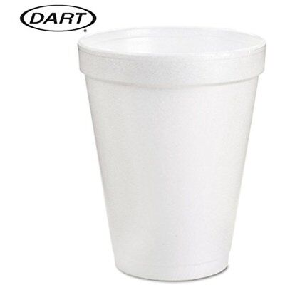 Dart 8 Oz White Disposable Coffee Foam Cups Hot And Cold Drink Cup, (Pack 51)