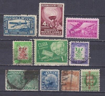 1Cuba - 10 Different Stamps