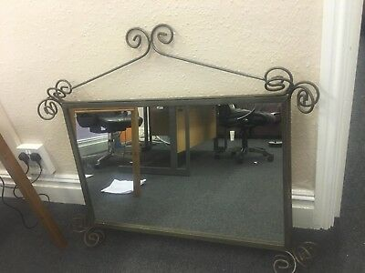 Old Wrought iron Mirror Heavy Collectible