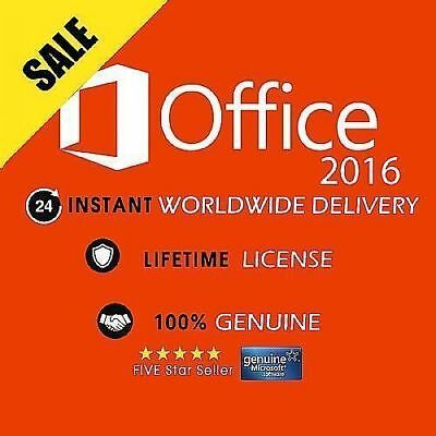 Microsoft Office 2016 Professional Plus Key and Download - Full Pro Version -1PC