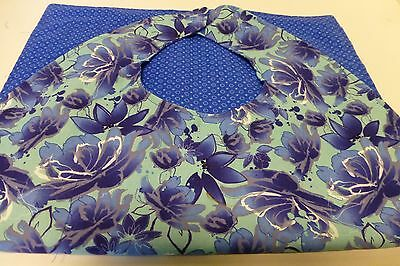Adult Bibs / cover-ups for adults, seniors, disabled/ bibs; royal, navy/teal