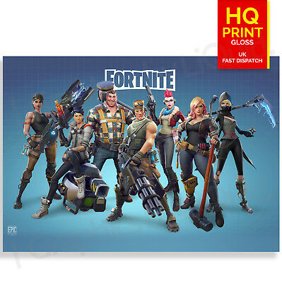 Fortnite Game Poster Print Gaming Poster A4 A3 A2 A1