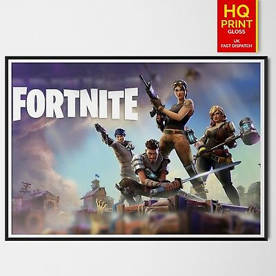 Fortnite  Battle Royale Poster Purple Wall Art Room Game PC PS4 Xbox | A4 A3 A2