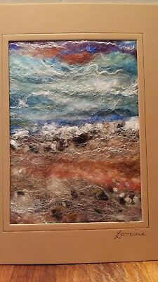 HEBRIDEAN HARRIS WOOL SEASCAPE / LANDSCAPE  - WET FELTING  1 off designs (s)