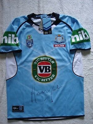 "Signed Andrew ""Joey"" Johns NSW Blues Jersey BNWT"