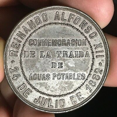 1882 PHILIPPINES COMMEMORACION  DELA TRAIDA DE AGUAS POTABLES, BRONZE, B-707a