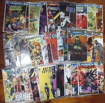 Dc Comic Lot Grab Bag Of 25 New 52 & Dc Rebirth Batman Wonder Woman  Vf-Nm