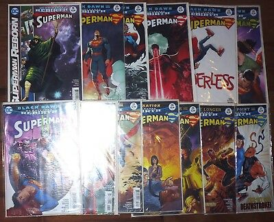 Superman #19 - 31 Comic Lot Dc Rebirth Unread Vf/nm