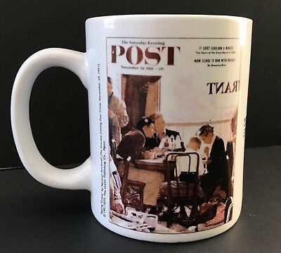 The Saturday Evening Post Saying Grace Coffee Mug Cup Norman Rockwell Collection