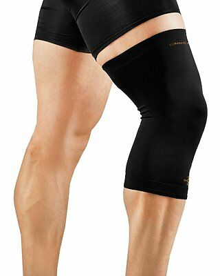 2-PACK Tommie Copper Men's Recovery Refresh Knee Sleeve Brace, Black, Small, NEW