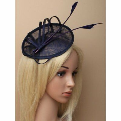 Navy Blue Hat With Headband And Arrows, Weddings, Races , Prom,Ladies Day