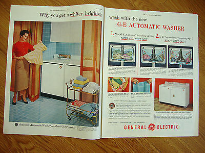 1954 GE General Electric Washing Machine Dryer Ad