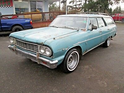 1964 Chevrolet Chevelle Wagon '70's Funky Shaggin Wagon Project! V-8, Auto,Runs and Drives Rat Rod No Reserve!