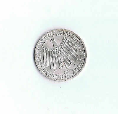 1972 Commemorative Germany 10 Deutsche Mark .625 Silver Coin Olympics Munich G