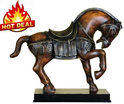 "Horse Statue Gorgeous Horses Figurines 9"" Height Detailed Figure Expensive Look"