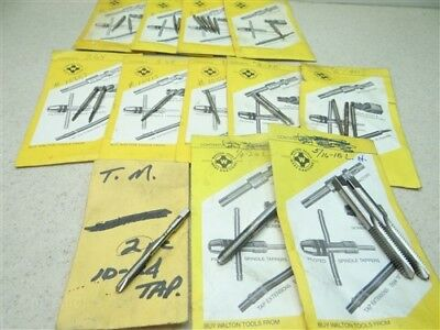 "Lot Of 23 Assorted Hss Taps #0-80Nf To 5/16""-18Nc L.h. Regal Winter Hw Gtd Lsi"