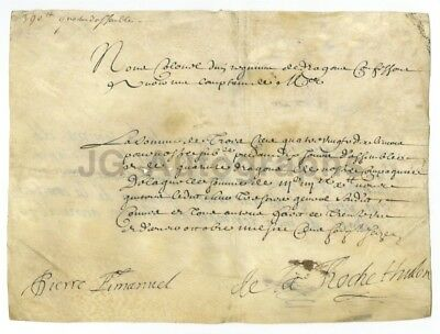17th Century France (Circa 1600s) - Vintage Document on Vellum - French History