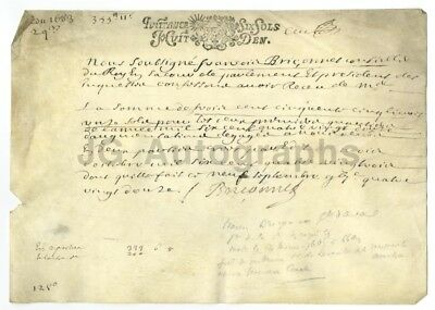 17th Century France 1683 - Vintage Document on Vellum - French History