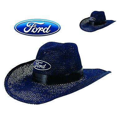 FORD COWBOY HAT – OVAL FORD LOGO – MESH BLUE – NEW – Large Size