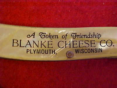 Blanke Cheese Co., Plymouth, Wisconsin, Advertising Jack Knife