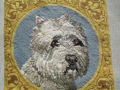Charming Westie Pettipoint Designed By Karen Woolley Offutt