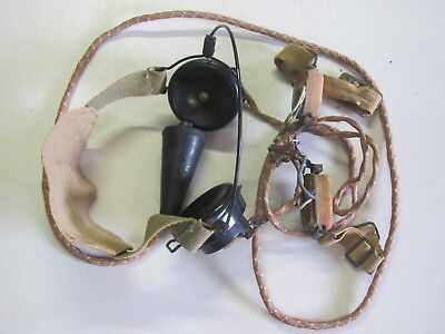 Military Headset, Type DLR-No. 5 with throat mic.