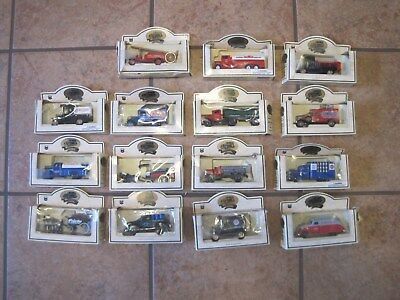 Chevron Days Gone By Die Cast Vehicle/Truck Models Lot of 15 Lledo Made England