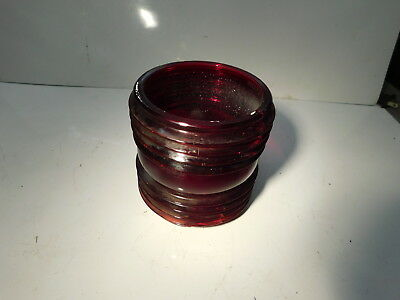 Maritime Round Red Fresnel Glass Lantern Lens- Selling For Glass Only