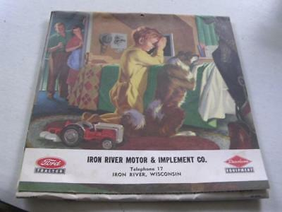 Iron River WI Motor & Implement Co Ford Tractors 1955 Complete Unused Calendar