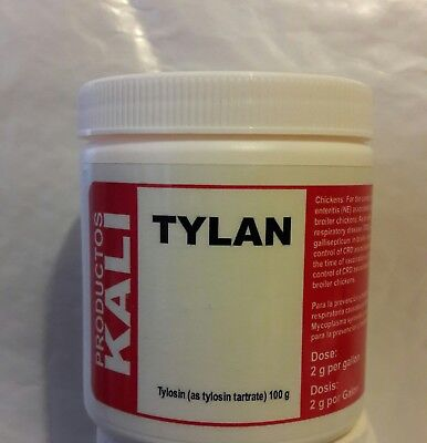 100% Tylan (as tylosin tartrate) 100g