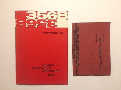 1962 Porsche 356 B Accessories Catalog and Price List Brochure