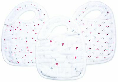 aden + anais 3 Pack Muslin Snap Bib, Make Believe (Discontinued by Manufa... New