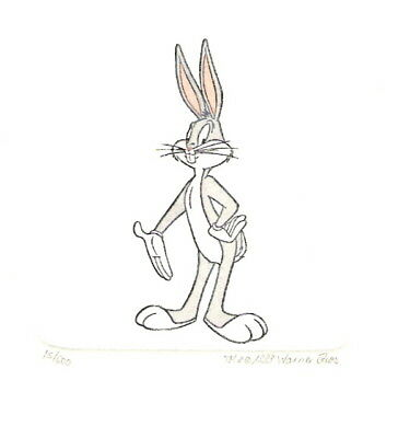 Bugs Bunny Hand Painted Ltd Ed Etching