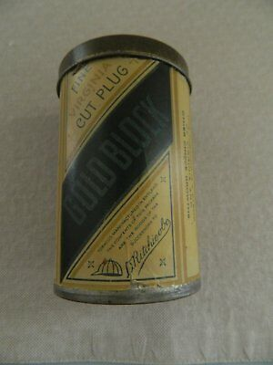 Old  Gold  Block  Plug  Tobacco  Tin