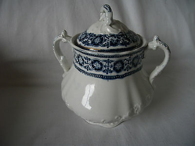 Bishop & Stonier Antique Pottery two handled lidded Pot Ref 404