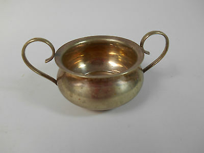 Vintage Small Silver Plate Dish Pot with Handles