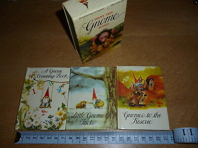 TEENY TINY GNOME TOMES – 3 Miniature books in slip cover