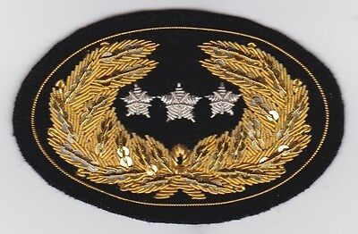 Civil War Slouch Hat Insignia - Lieutenant General Large w/Free $20 Double Eagle