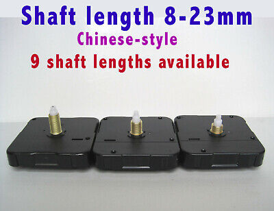 QUARTZ CLOCK MECHANISM MOVEMENT, Round Hand-Fittings Ø 5mm & 3mm (Chinese-style)