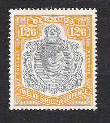 Bermuda  1938  12/6d grey/orange  perf 14  mint hinged